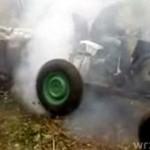 Palenie gum traktorem
