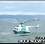 Helikopter wylądował w morzu!