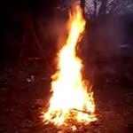 Skok przez ognisko - IDIOCI!
