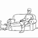 Złośliwy kot przez telewizorem - boskie!