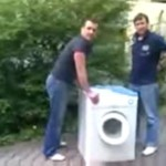 Niemka kontra pralka