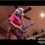 Babcia z gitarą elektryczną