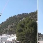 Dwa helikopterki podnoszą kobietę!