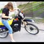 Laseczka z Polski testuje motor
