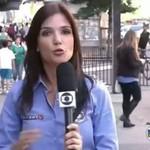 Pocałował reporterkę!