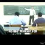 Uderzył ucznia na lekcji!