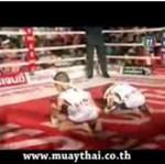 Tajski boks w wykonaniu kilkuletnich chłopców