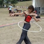 Mistrzyni hula hop na festiwalu