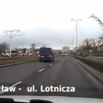 Wrocław - idioci na drogach