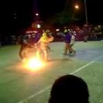 Płonąca piłka - hardkorowe rozgrywki!