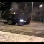 Drift pługiem śnieżnym