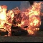 Eksplozja samochodu w zwolnionym tempie