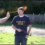 Strzelanie po gazie pieprzowym - HARDKOR!