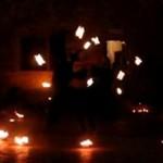Płonące show