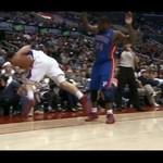 Mecz koszykówki - lepiej nie siadaj w pierwszym rzędzie!
