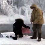 Syberia - kąpiel przy -50 stopniach Celsjusza