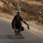 Bolesna wpadka na longboardzie