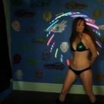 Show ze świecącym hula hop