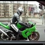 Popisy polskiego motocyklisty