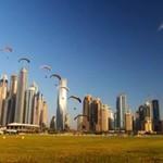 Podniebne show w Dubaju