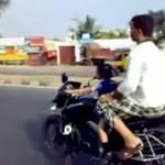 Dziewczynka prowadzi motor... Ile ona może mieć lat!?