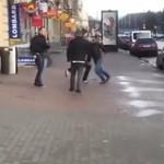 Z kamerą wśród Rosjan - bójka uliczna