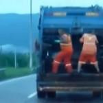 Śmieciarze tańczą w pracy!