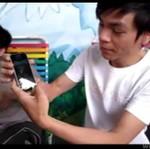 Azjaci testują telefon