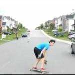 Longboard - garść wypadków!