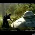 Kawał z realistycznym statkiem UFO