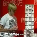 Rekordowa budowla z kart w Pekinie!