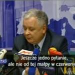 """""""Czerwona małpa"""" Kaczyńskiego"""