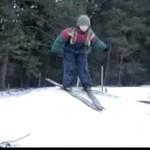 Wyskoczył z nart!