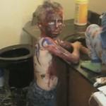 Małe dzieci + farba = Armageddon