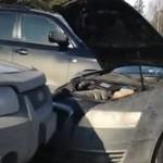 Kozak w Audi wyprzedza