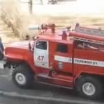 """Rosyjska straż pożarna """"ratuje"""" kotka"""