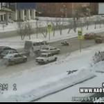 Rosyjski wypadek na przejściu dla pieszych
