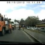 Naprawa drogi w Brzozowie