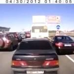 Szalony Rusek na drodze