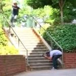 Skateboardzista prawie skręcił sobie kark!