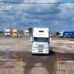 Rosyjski kierowca ciężarówki