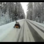Śnieżna przygoda na trasie