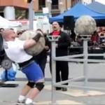 Strongman przygnieciony betonową kulą!