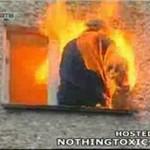 Desperat spłonął we własnym mieszkaniu