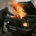 Ugasili samochód... musztardą!