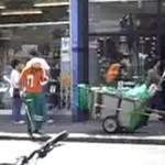 Taniec Polaka sprzątającego ulice! Wideo z UK!