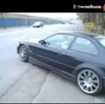 BMW - drifting na szosie