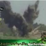 Terroryści obserwują eksplozję