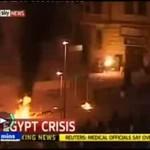 Zamieszki w Egipcie - protestujący się podpalił!