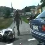 Wypadek motocyklowy w Złotym Stoku!